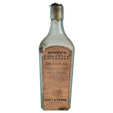 Scott's EMULSION of Cod Liver Oil Bottle