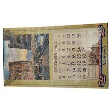 1943 Colorado Utah Denver Rio Grande Western Railroad Calendar