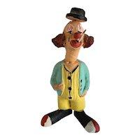 Ceramic Folk Art Creepy Clown