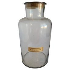 German Apothecary Glass Bottle Oversized