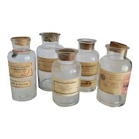 Lot of German Apothecary Bottles