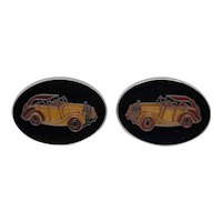 Avon Enamel Car Cufflinks