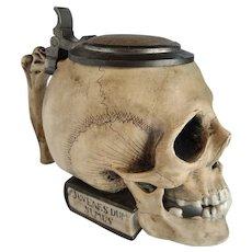 Ernst Bohne Figural Skull German Stein c.1910 cat #9136