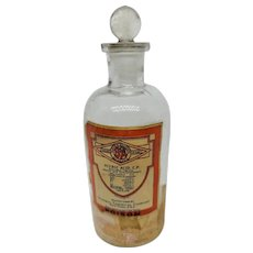 Apothecary Bottle Poison Nitric Acid
