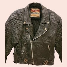 Mens Black Leather Motorcycle Jacket