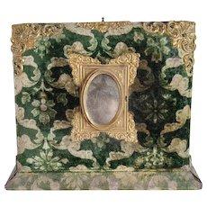 Victorian Velvet Presentation Photo Album Lap desk Inkwell