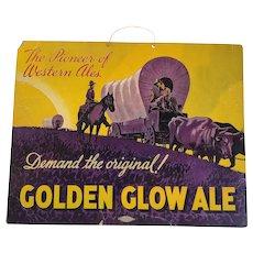 Golden Glow Ale Beer Advertising Sign