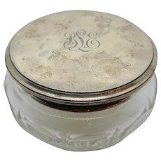 Sterling & Crystal Dresser Jar 1926