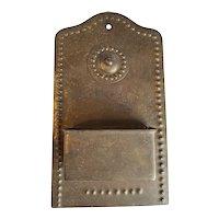 Stamped Brass Match Holder