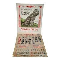 Sommers Oil Co Advertising Calendar 1929