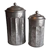 Zinc canisters-set of 2