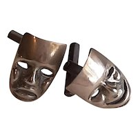 Sterling cufflinks -Theater masks