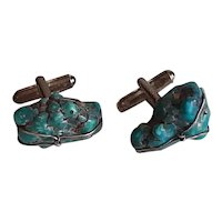 Turquoise and sterling cufflinks