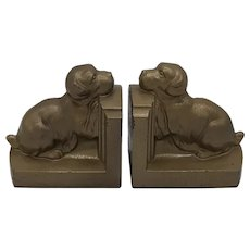 Dog bookends-cast metal
