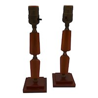Bakelite table lamps-pair