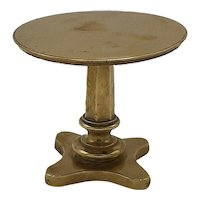 Mini brass table