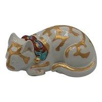 Kutami Sleeping Cat sculpture