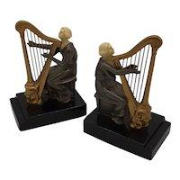 Bookends-Harpist