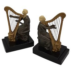 Bookends-Harpist