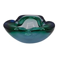 Glass ash tray by Murano