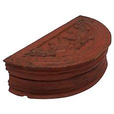 Half moon wood box