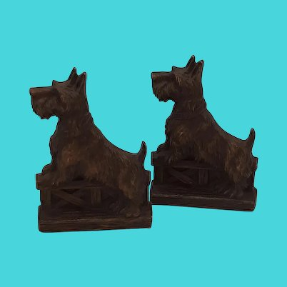 Bookends-Scotty dogs