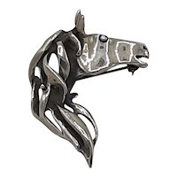 Sterling pin/pendant-Horse head