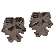 Comedy/Tragedy masks cufflinks