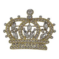 Crown rhinestone pin