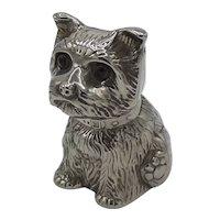 Silver plate dog coin bank