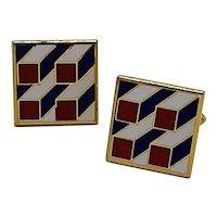 Geometric design cufflinks