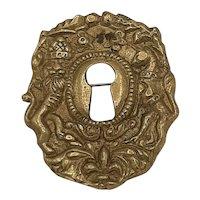 Brass key hole broach