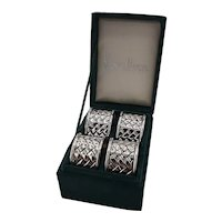 Silver plate napkin rings from Neiman Marcus