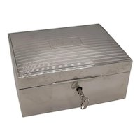Sterling jewelry box with key