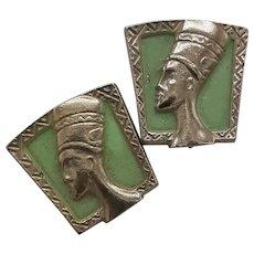 Egyptian bust cufflinks