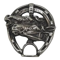 Sterling horse & horseshoe pin