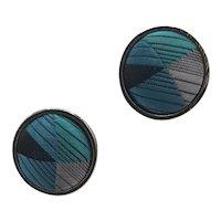 Silk fabric coveref cufflinks