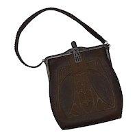 Art Nouveau leather purse