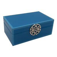 Blue glass jewlery box