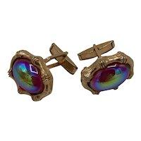 Cabochon cufflinks