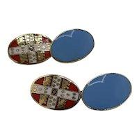 London Badge & Button cufflinks