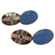 London Badge & Button cufflinks