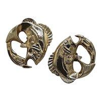 Hickok fish cufflinks