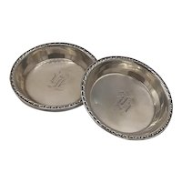 Sterling nut dishes-set of 4