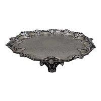English silver plate presentation tray