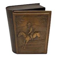 Brass book box