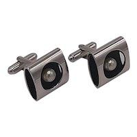 Shields pearl cufflinks