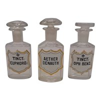 Apoticary Bottles- Set of 3