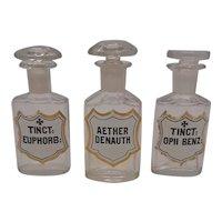 Apoticary Bottles- Set of 3