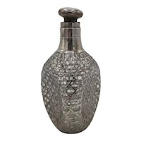 Dimple pinched and Sterling Bottle